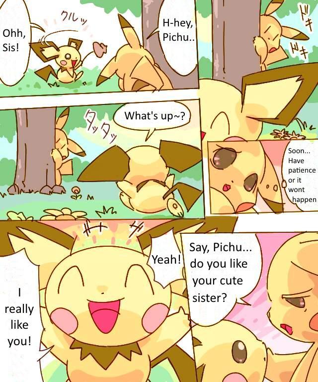 Pikachu Kiss Pichu 0