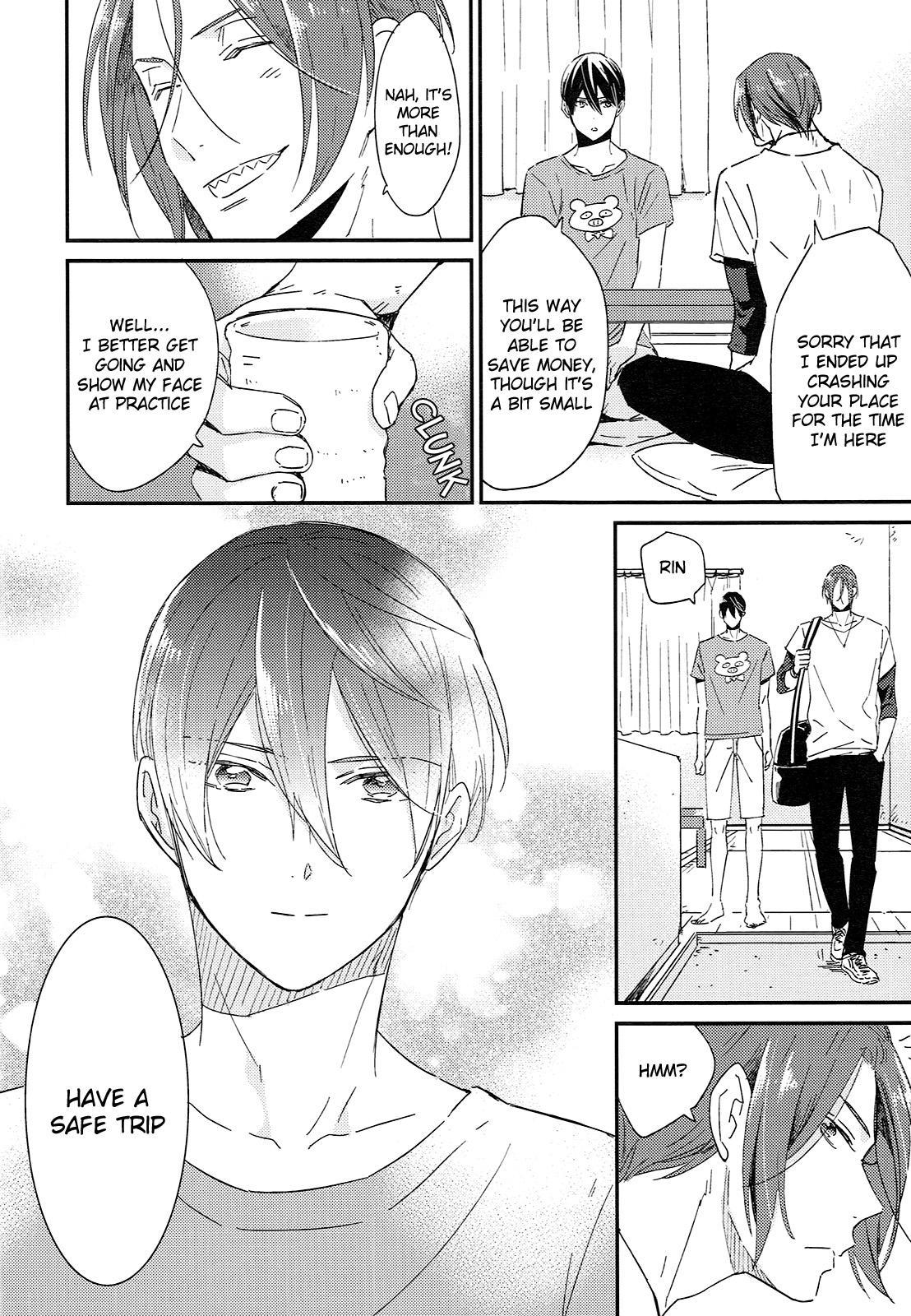 (SUPER24) [KANGAROO KICK (Takagi Takumi)] Matsuoka Rin no Shinkon Seikatsu (Kari) | Matsuoka Rin's Newly-Wed Life (Provisional) (Free!) [English] [Holy Mackerel] 4