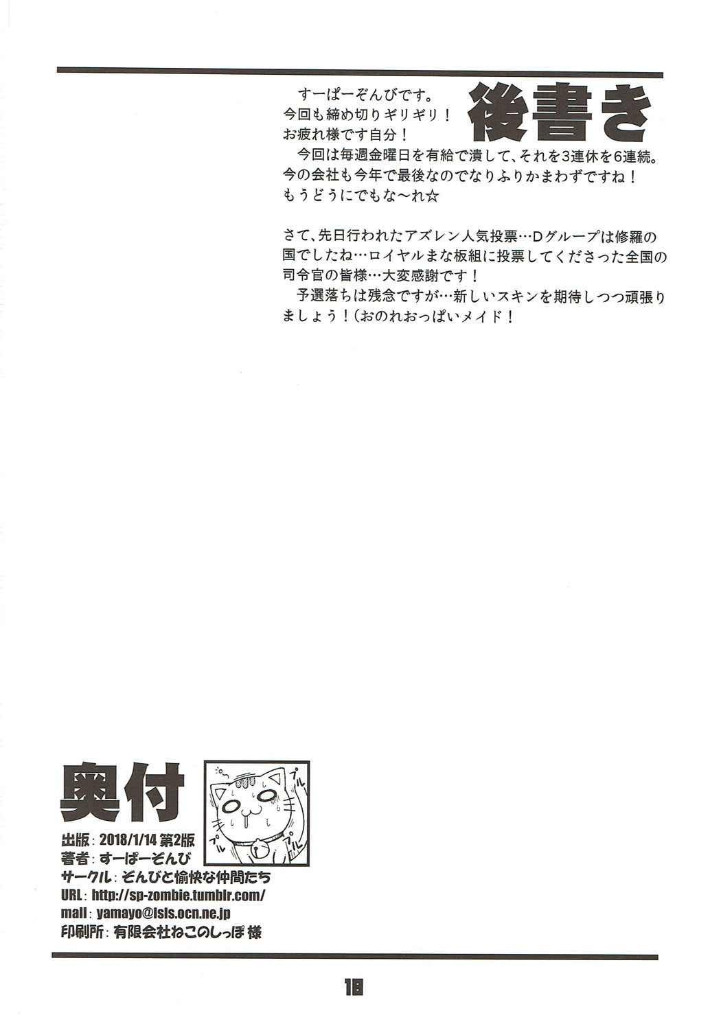 Kinpatsu Manaita no Template 16