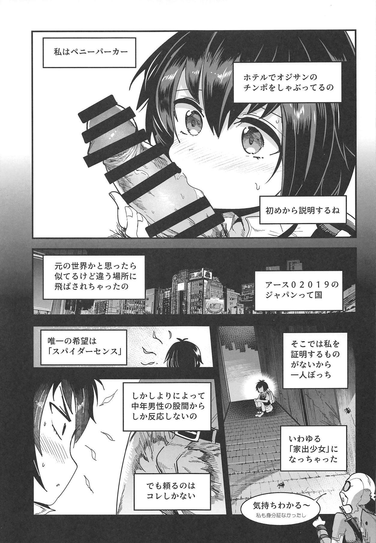Peni Parker no Usui Hon ni wa Ooinaru Sekinin ga Tomonau 3