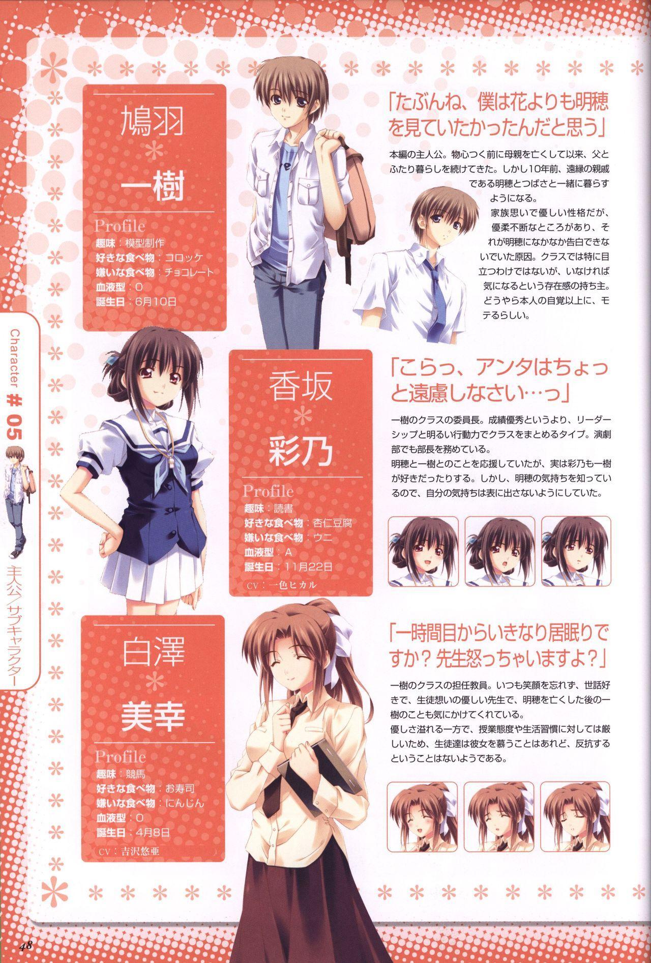 Moshimo Ashita ga Harenaraba official fanbook 48