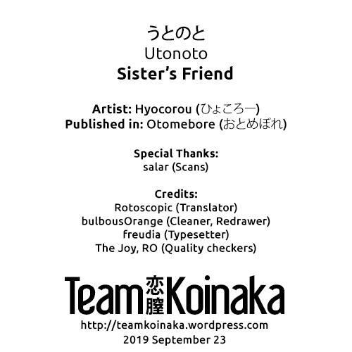 Utonoto   Sister's Friend 4