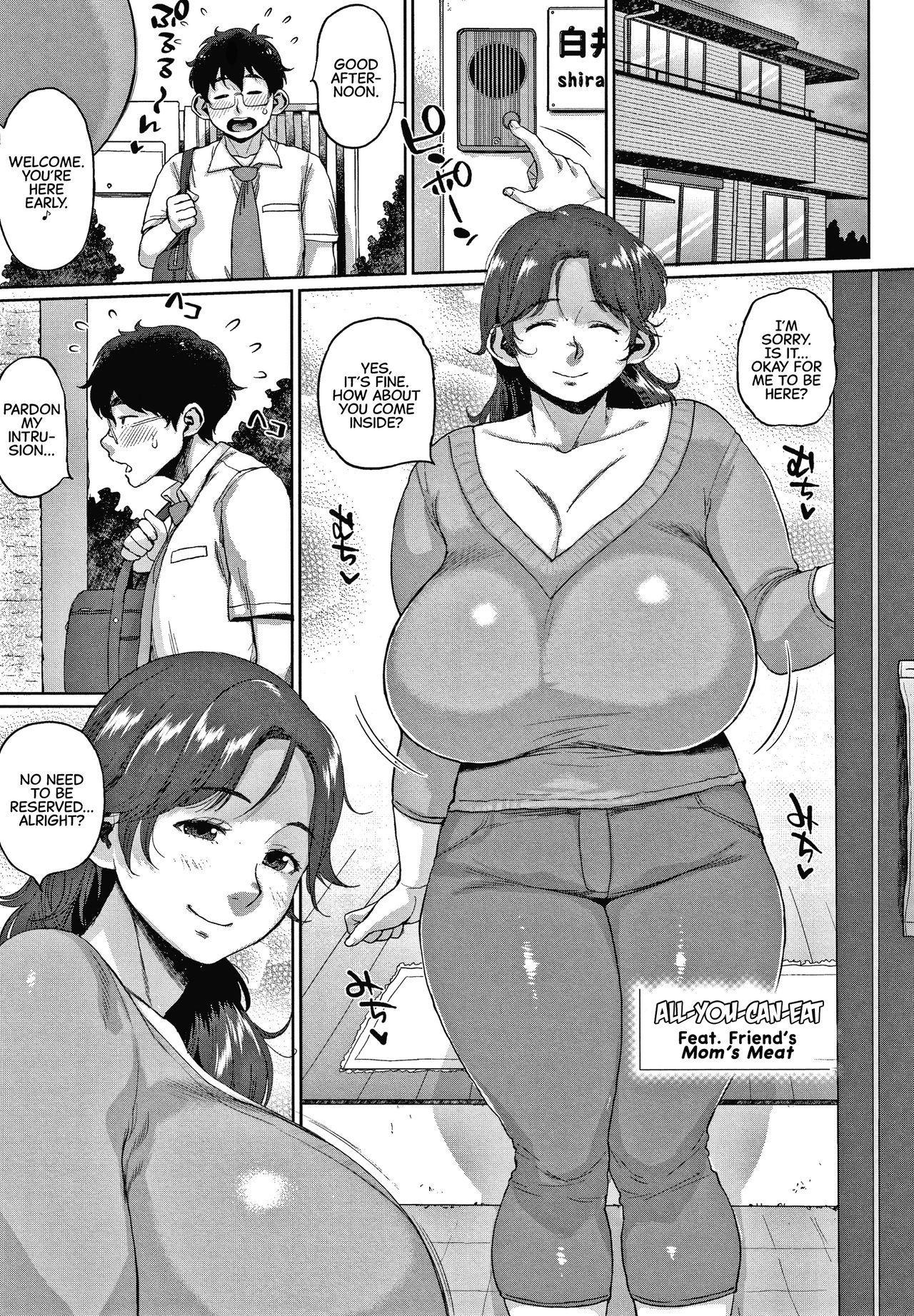 [Muronaga Chaashuu] Tomohaha Nikushoku Baikingu   All-You-Can-Eat Feat. Friend's Mom's Meat (Kaa-san no Umoretai Karada) [English] [CulturedCommissions] 0