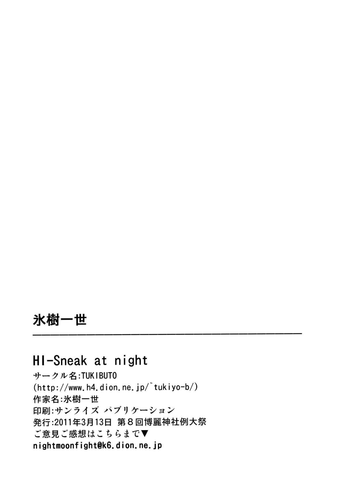 HI-Sneak at night 16